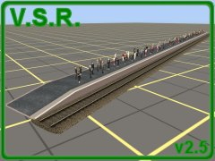 This pack is the first set of station platforms updated to TS2009+. This is a further extension of the improvements included in the trial version, with a further improved texture and script (including a configurable stopping position). There is also a couple of new versions, with shorter platforms than previously available. As before, they should work in any version from TS2009SP1 upwards.